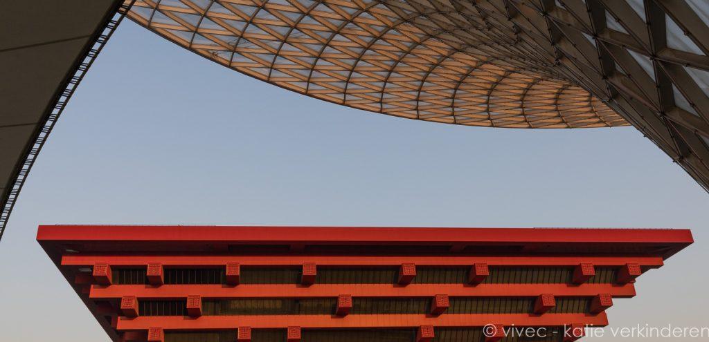 Het Chinese paviljoen op de site van Expo 2010 in Shanghai
