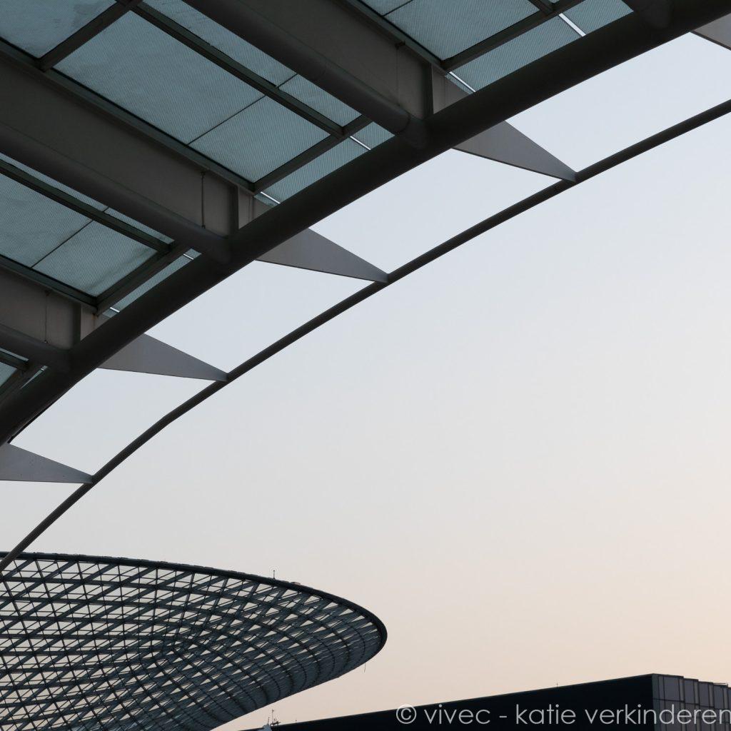 architectuurdetail op de site van de expo 2010 in Shanghai